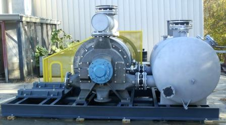 Vooner Paper Machinery Supplies a 316 SS Flue Gas Compressor Assembly — Under Budget